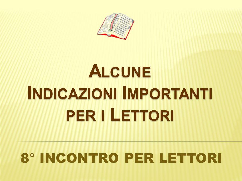 Nel delineare il ruolo del lettore, Paolo VI insiste sullimpegno che tale delicato compito richiede: Perché possa svolgere in modo più adatto e conveniente questo ufficio, procuri di meditare assiduamente le Sacre Scritture.