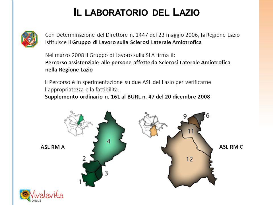 I L LABORATORIO DEL L AZIO Con Determinazione del Direttore n.