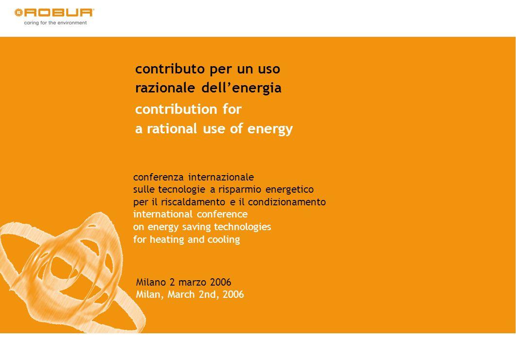 contributo per un uso razionale dellenergia contribution for a rational use of energy conferenza internazionale sulle tecnologie a risparmio energetic