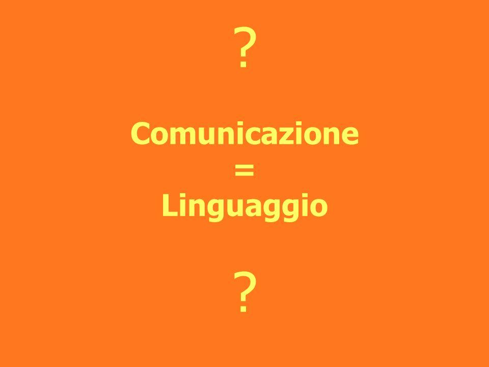? Comunicazione = Linguaggio ?
