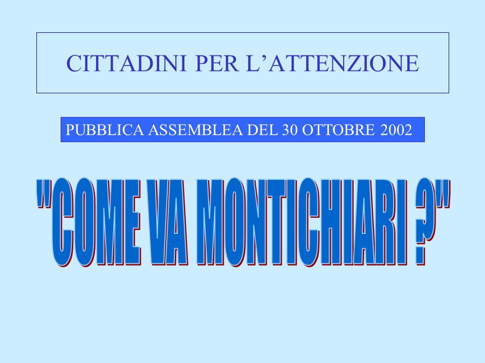 CITTADINI PER LATTENZIONE PUBBLICA ASSEMBLEA DEL 30 OTTOBRE 2002
