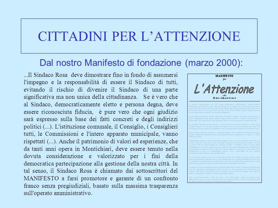CITTADINI PER LATTENZIONE Il nostro sito internet : www.cittadinimontichiari.it Il mini-portale per Montichiari