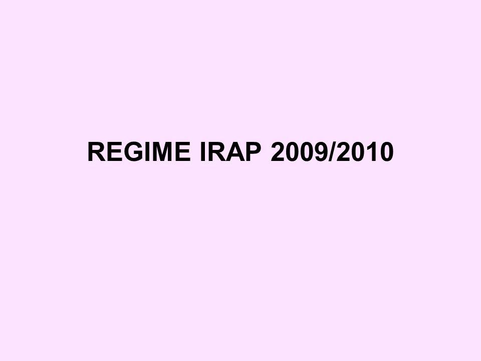 REGIME IRAP 2009/2010