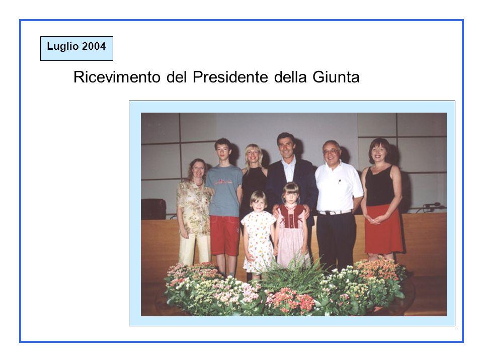 Luglio 2004 Incontro con il presidente della Regione Carlo Perrin. Aosta 23 Luglio 2004