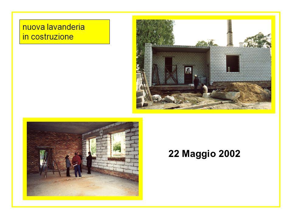 Interno nuova lavanderia in costruzione 22 maggio 2002