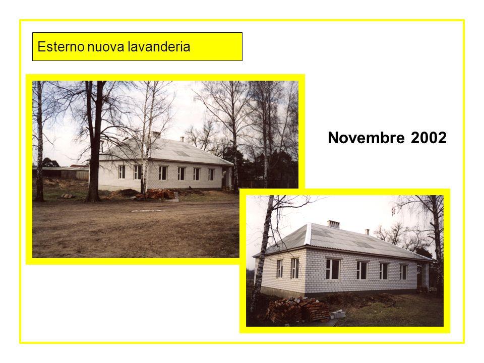nuova lavanderia in costruzione 22 Maggio 2002