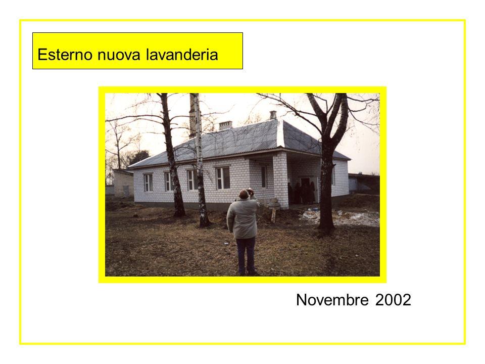 Esterno nuova lavanderia Novembre 2002