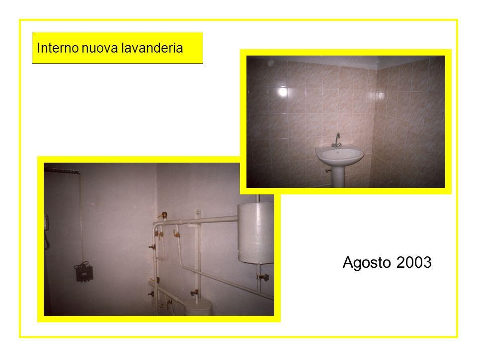 Interni nuova lavanderia Agosto 2003