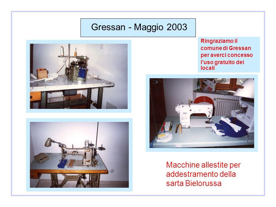 Maggio 2003 Sarta in addestramento ad Aosta