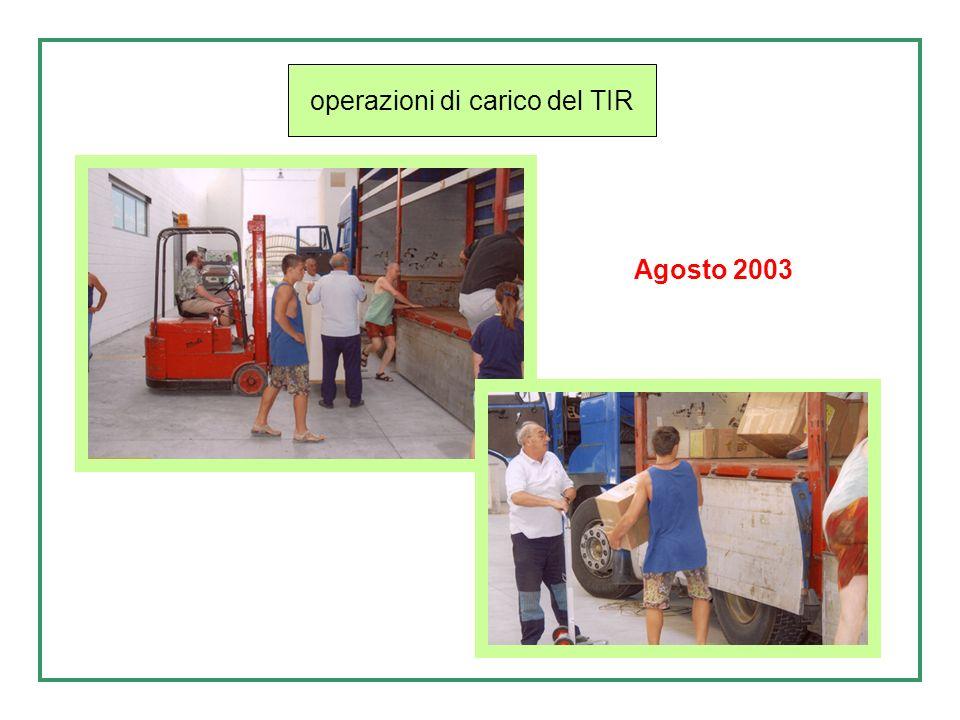 Operazione di carico Tir