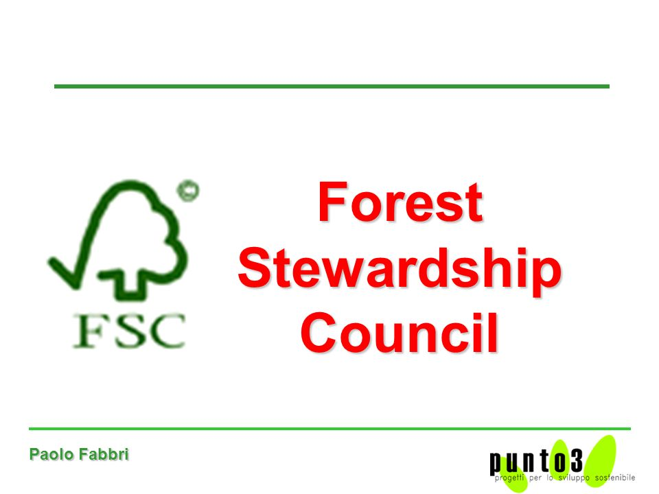 Paolo Fabbri Forest Stewardship Council