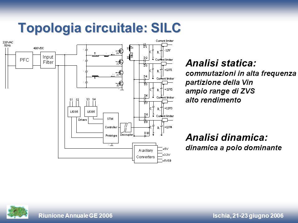 Ischia, 21-23 giugno 2006Riunione Annuale GE 2006 Topologia circuitale: SILC Analisi statica: commutazioni in alta frequenza partizione della Vin ampi