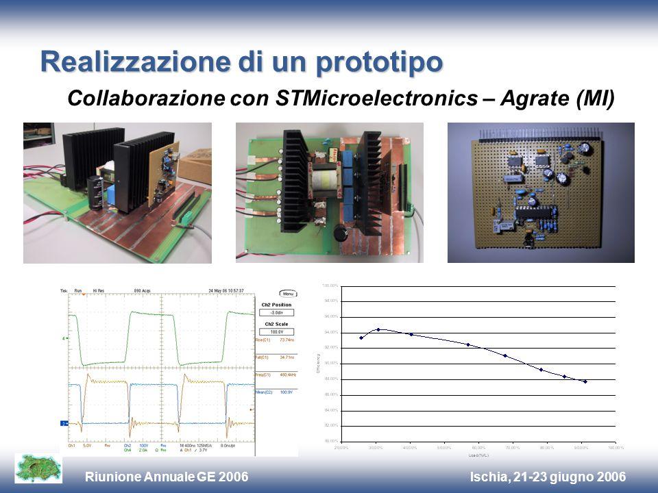 Ischia, 21-23 giugno 2006Riunione Annuale GE 2006 Realizzazione di un prototipo Collaborazione con STMicroelectronics – Agrate (MI)