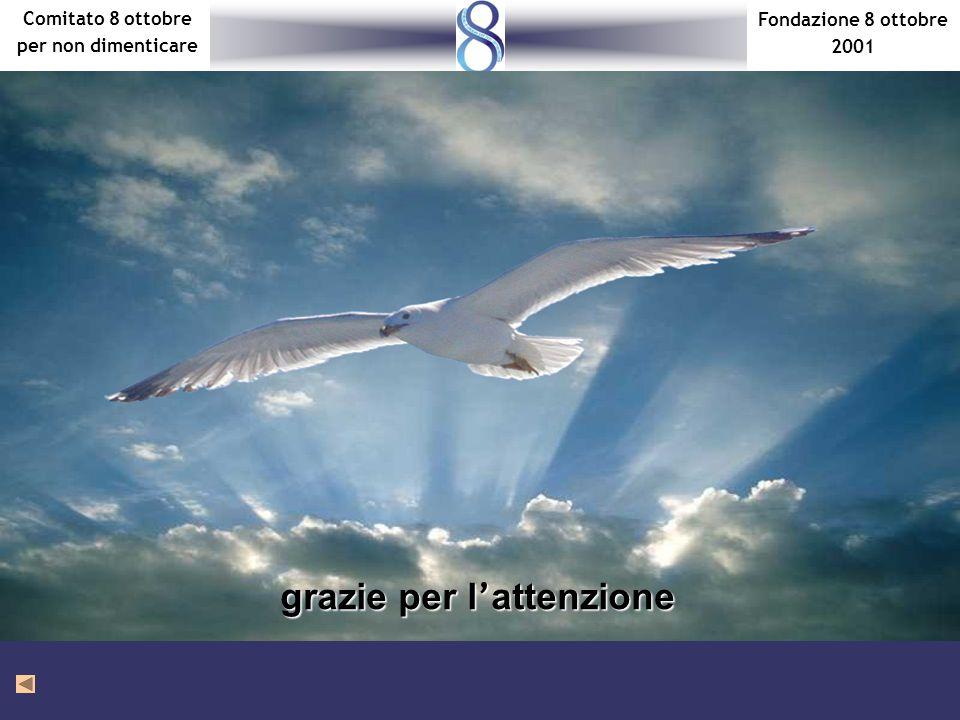 Fondazione 8 ottobre 2001 Comitato 8 ottobre per non dimenticare grazie per lattenzione
