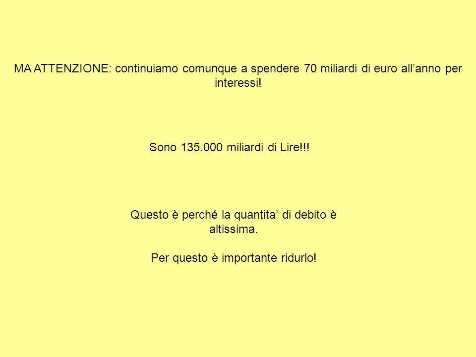 Sono 135.000 miliardi di Lire!!.