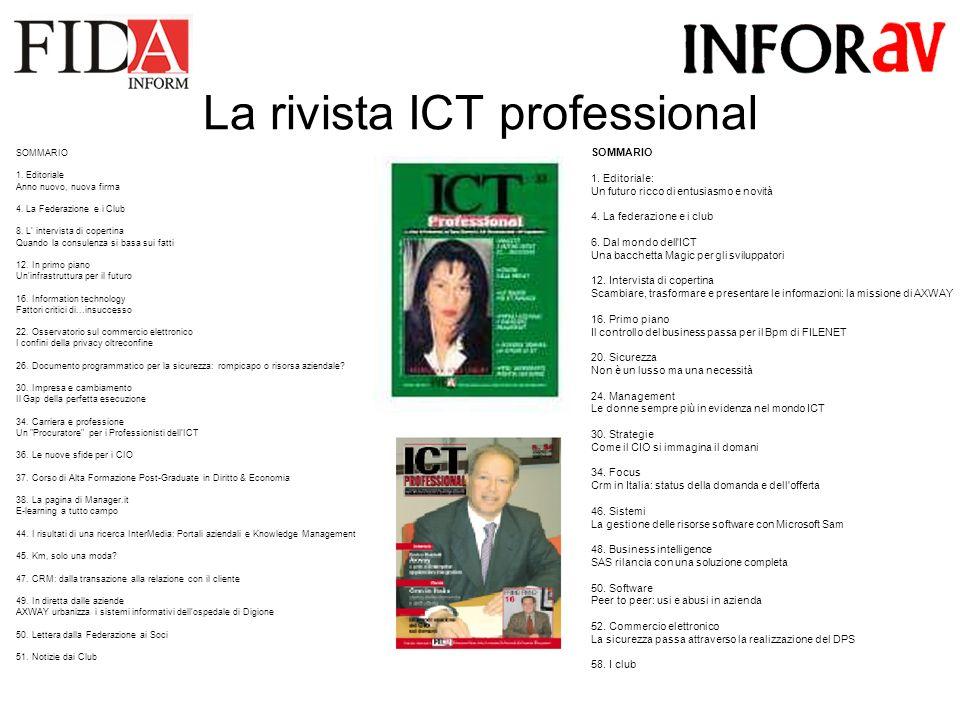 La rivista ICT professional SOMMARIO 1.Editoriale: Un futuro ricco di entusiasmo e novità 4.