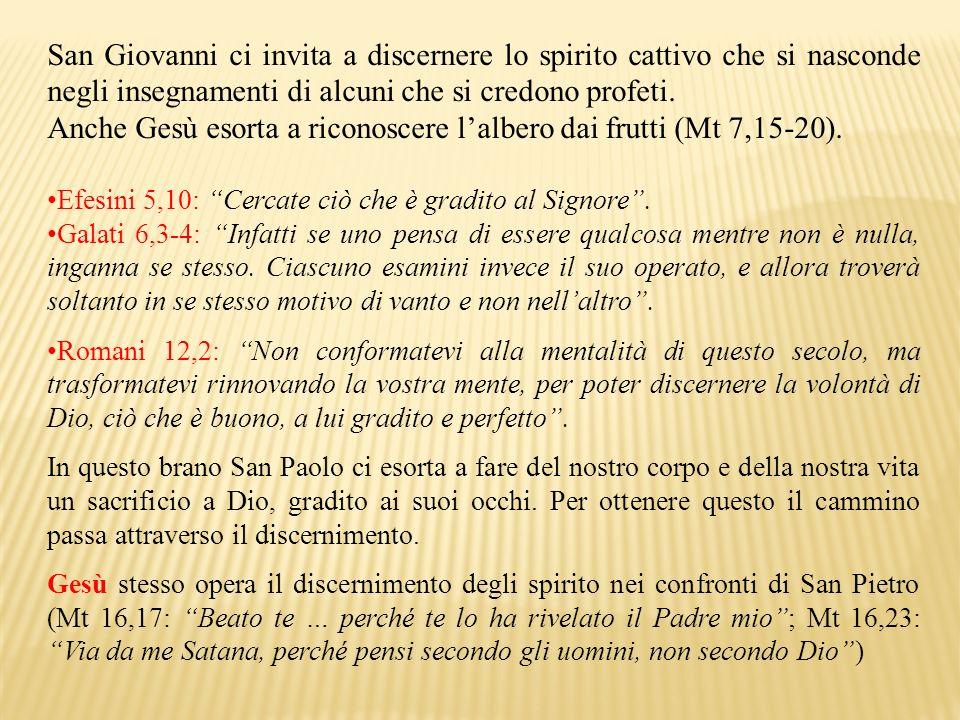 San Giovanni ci invita a discernere lo spirito cattivo che si nasconde negli insegnamenti di alcuni che si credono profeti. Anche Gesù esorta a ricono