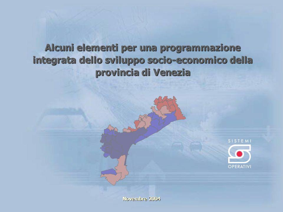 Alcuni elementi per una programmazione integrata dello sviluppo socio-economico della provincia di Venezia Novembre 2004