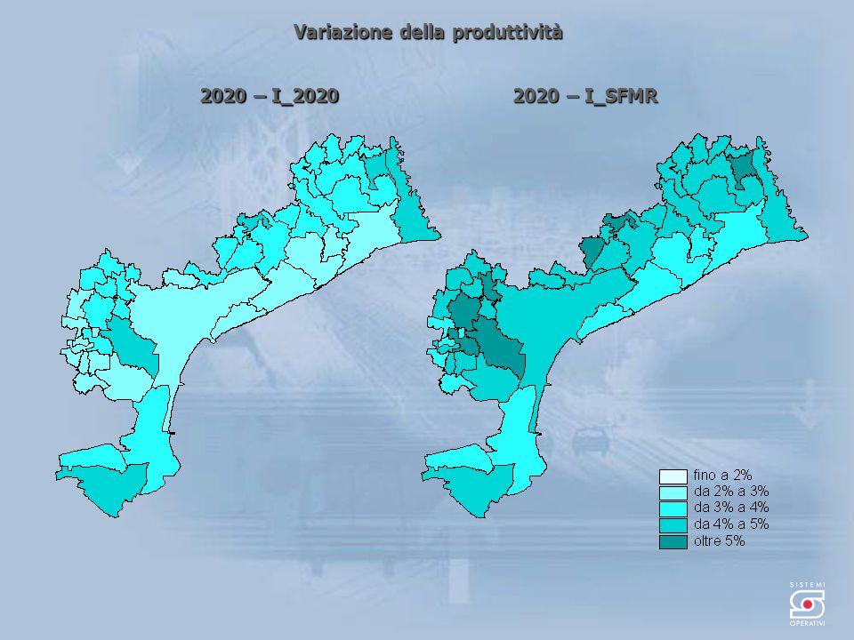 Variazione della produttività 2020 – I_2020 2020 – I_SFMR