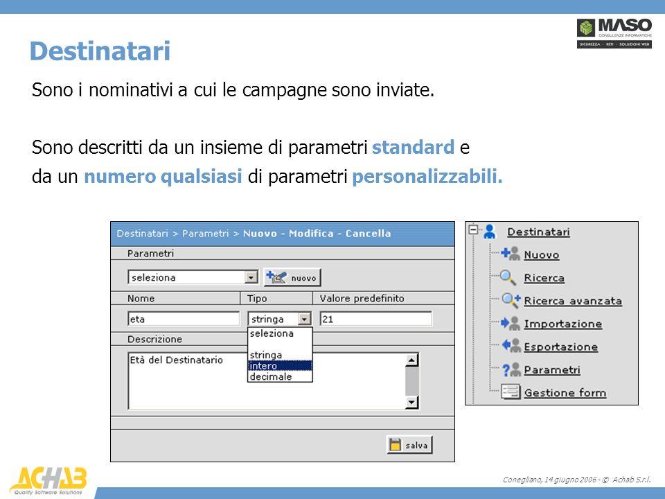 Conegliano, 14 giugno 2006 - © Achab S.r.l. Sono i nominativi a cui le campagne sono inviate.