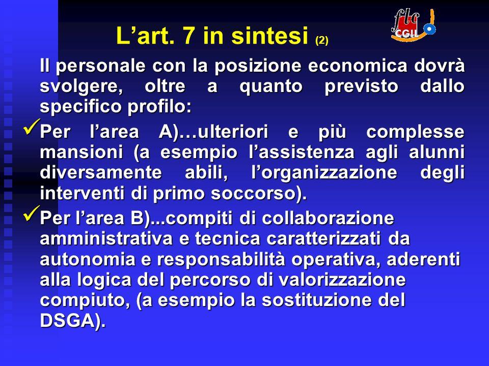 La tempistica di realizzazione Il 1 Settembre 2006 va attribuito il beneficio economico e lesercizio delle nuove competenze.