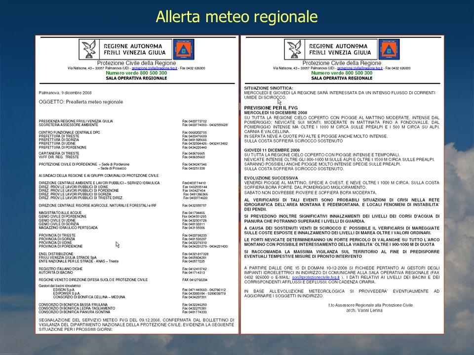 Allerta meteo regionale