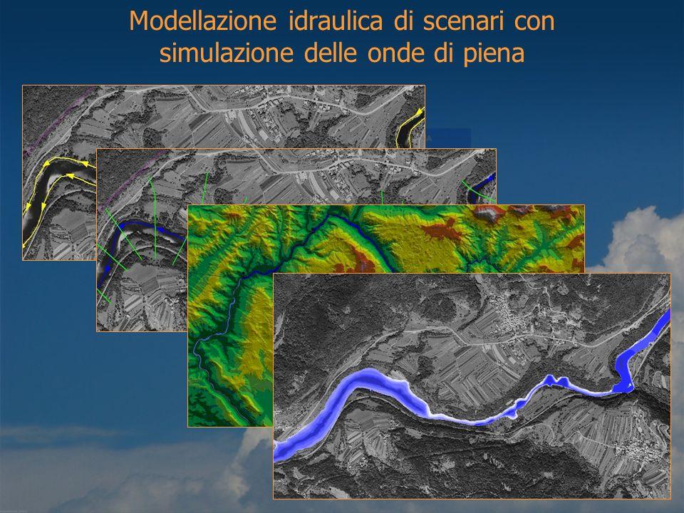 Modellazione idraulica di scenari con simulazione delle onde di piena