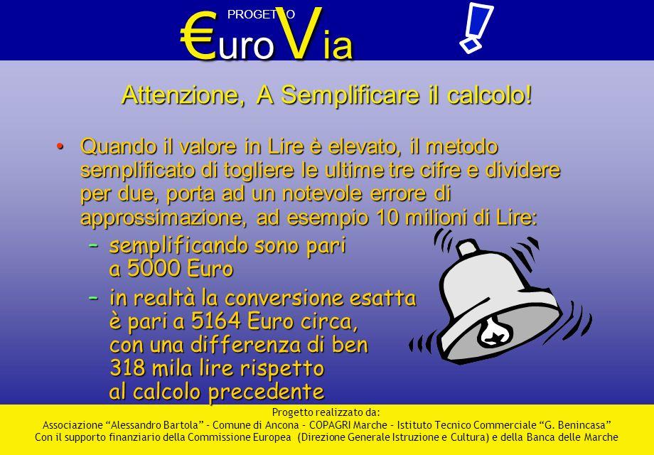 PROGETTO uro V ia uro V ia Progetto realizzato da: Associazione Alessandro Bartola – Comune di Ancona – COPAGRI Marche – Istituto Tecnico Commerciale G.