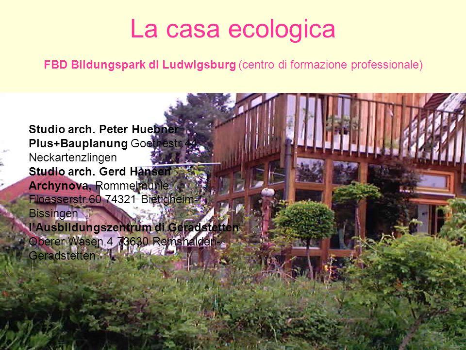 Workshop Scuola-Lavoro Foggia P. Ventrella - 30 ottobre 2006 58 La casa ecologica FBD Bildungspark di Ludwigsburg (centro di formazione professionale)