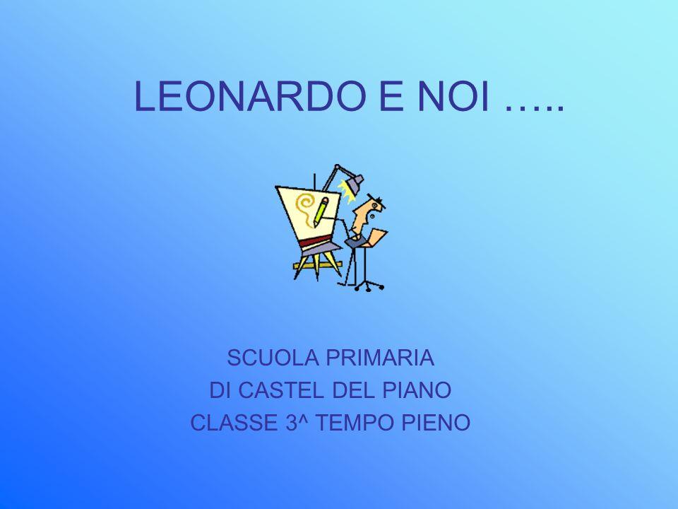 LEONARDO E NOI ….. SCUOLA PRIMARIA DI CASTEL DEL PIANO CLASSE 3^ TEMPO PIENO