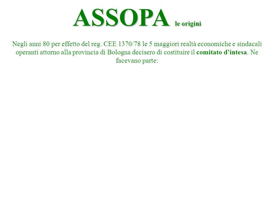 ASSOPA le origini Negli anni 80 per effetto del reg.