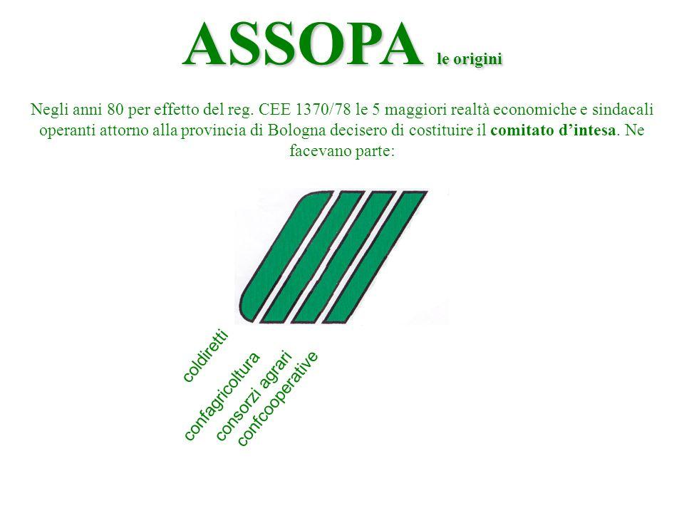 coldiretti confagricoltura consorzi agrari confcooperative ASSOPA le origini Negli anni 80 per effetto del reg.