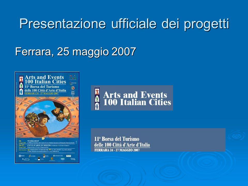 Presentazione ufficiale dei progetti Ferrara, 25 maggio 2007