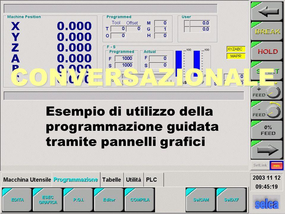 CONVERSAZIONALE Esempio di utilizzo della programmazione guidata tramite pannelli grafici
