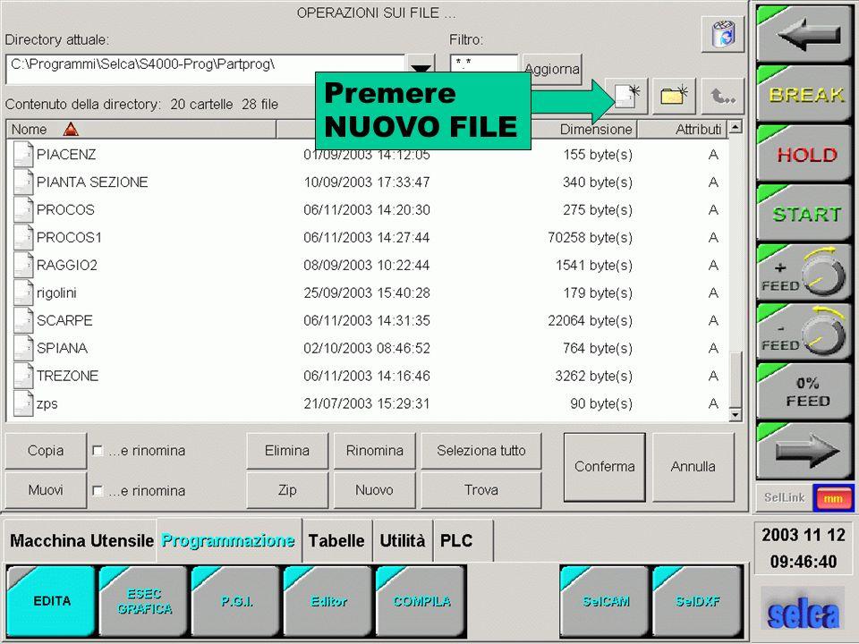 Impostare il numero utensile, il raggio da programma o da tabella, i parametri di taglio nei campi azzurri e premere le freccie rosse per calcolare i parametri di lavoro (SPEED e FEED) e premere OK