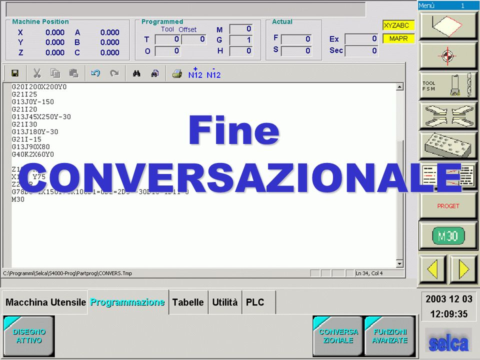 FineCONVERSAZIONALE