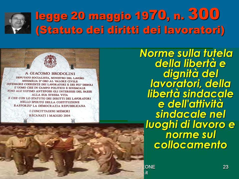 Studio Avv.Nunzio LEONE www.nunzioleone.it 23 legge 20 maggio 19 70, n.