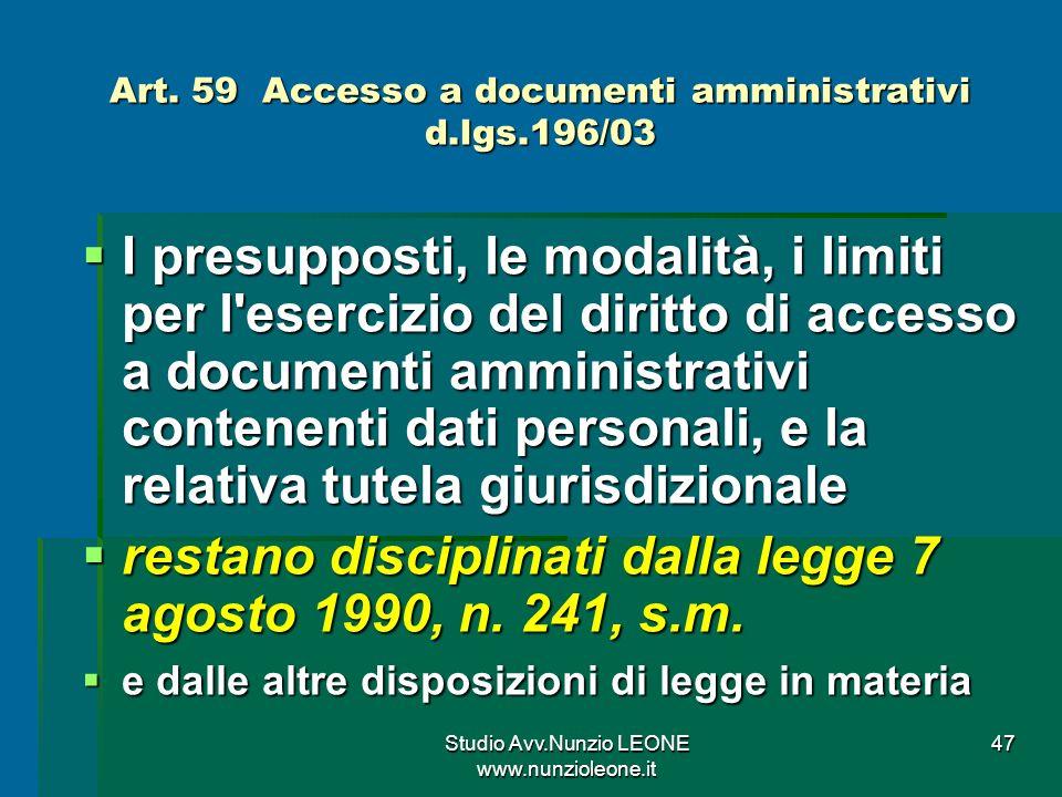Studio Avv.Nunzio LEONE www.nunzioleone.it 47 Art.