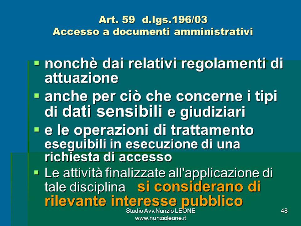 Studio Avv.Nunzio LEONE www.nunzioleone.it 48 Art.