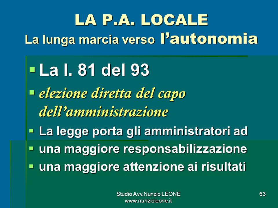 Studio Avv.Nunzio LEONE www.nunzioleone.it 63 LA P.A.