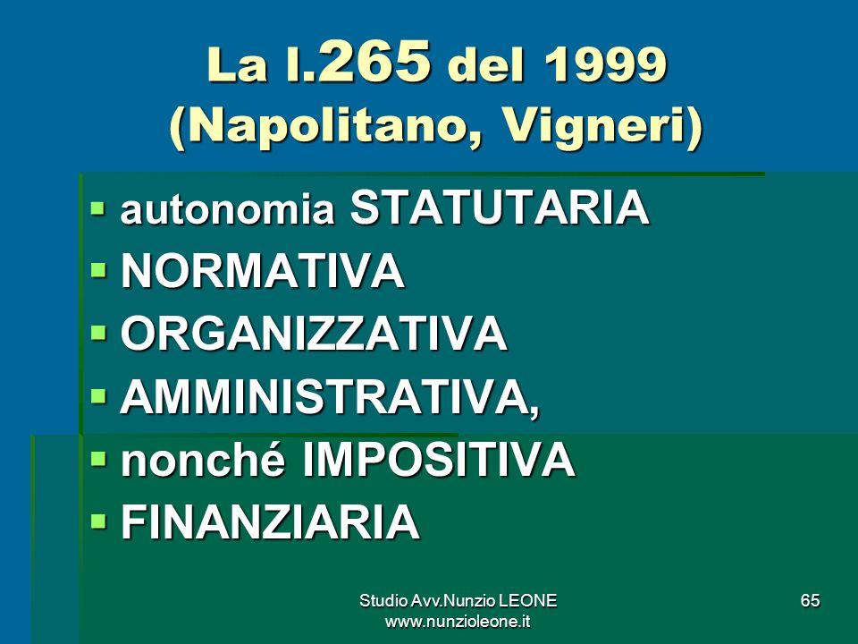 Studio Avv.Nunzio LEONE www.nunzioleone.it 65 La l.