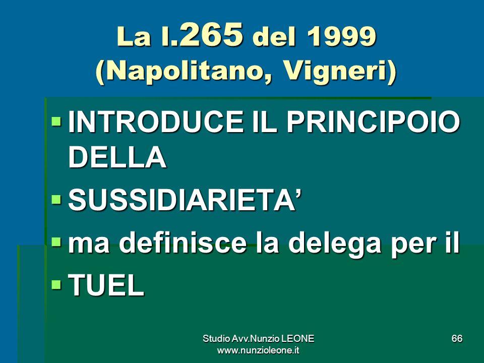 Studio Avv.Nunzio LEONE www.nunzioleone.it 66 La l.