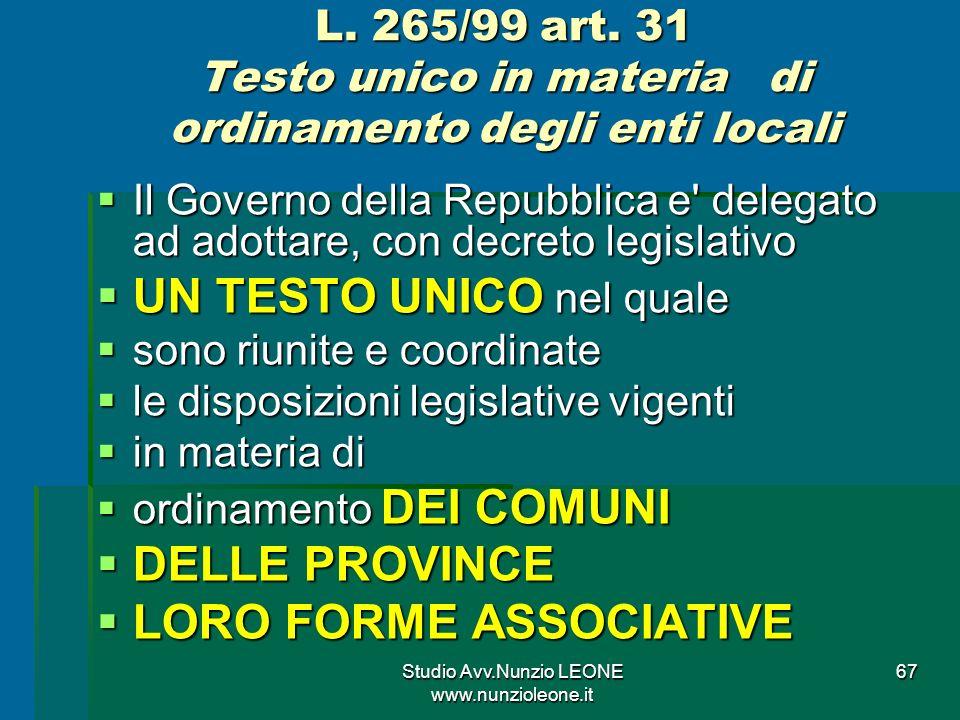 Studio Avv.Nunzio LEONE www.nunzioleone.it 67 L.265/99 art.