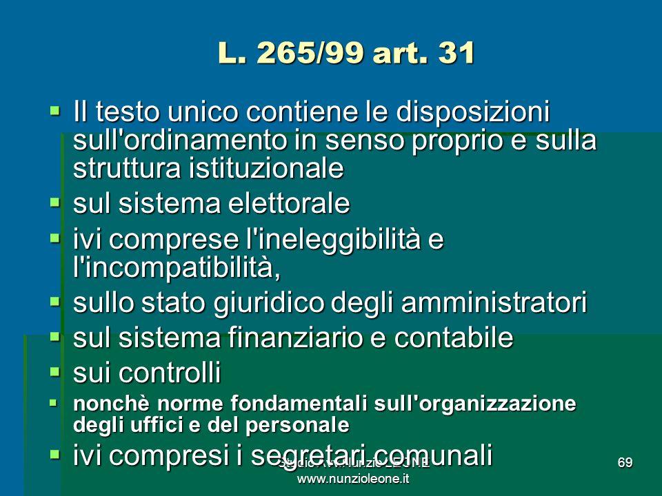 Studio Avv.Nunzio LEONE www.nunzioleone.it 69 L.265/99 art.