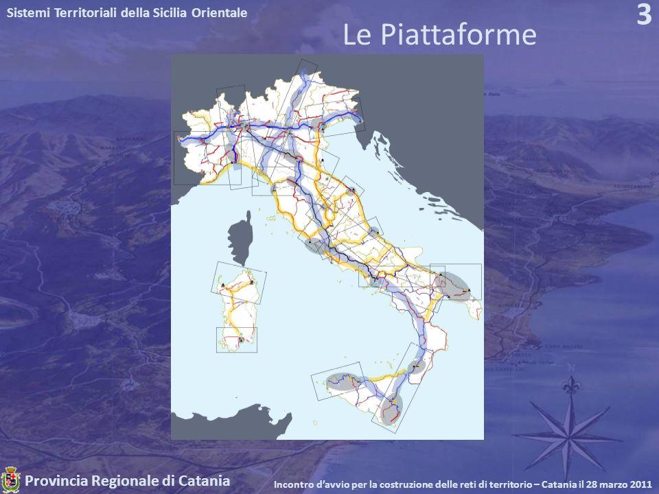 Provincia Regionale di Catania Sistemi Territoriali della Sicilia Orientale Incontro davvio per la costruzione delle reti di territorio – Catania il 28 marzo 2011 3 Le Piattaforme