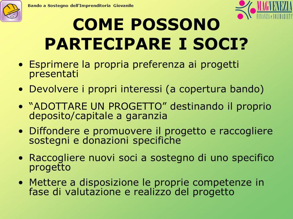 COME POSSONO PARTECIPARE I SOCI.