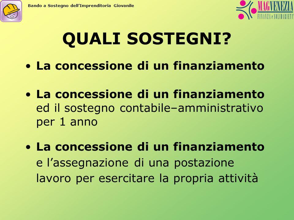 Finanziamento Il finanziamento ha lo scopo di sostenere direttamente linvestimento da realizzarsi per lo sviluppo e implementazione dellattività economica.