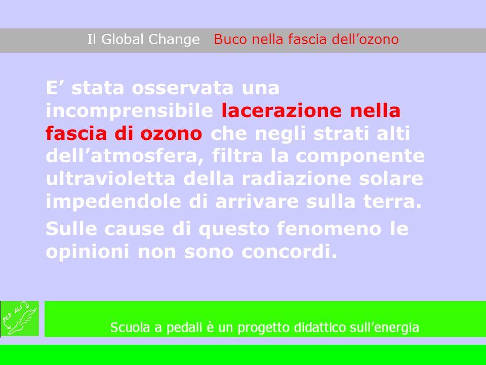 E stata osservata una incomprensibile lacerazione nella fascia di ozono che negli strati alti dellatmosfera, filtra la componente ultravioletta della