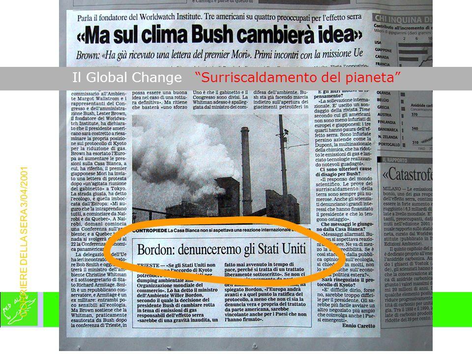 CORRIERE DELLA SERA 3/04/2001 Il Global Change Surriscaldamento del pianeta
