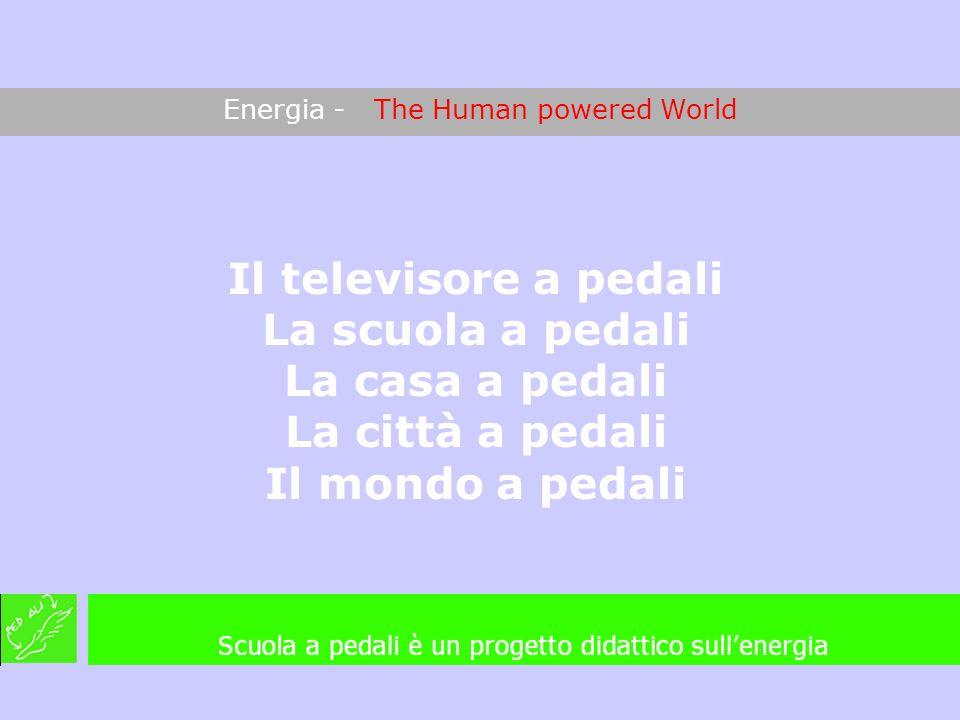 Energia - The Human powered World Il televisore a pedali La scuola a pedali La casa a pedali La città a pedali Il mondo a pedali